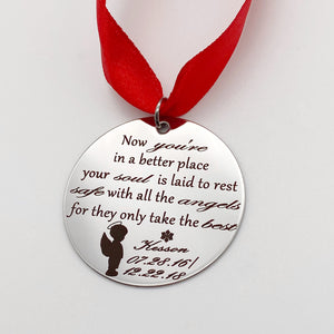 loss of a son in heaven christmas tree memorial keepsake personalized