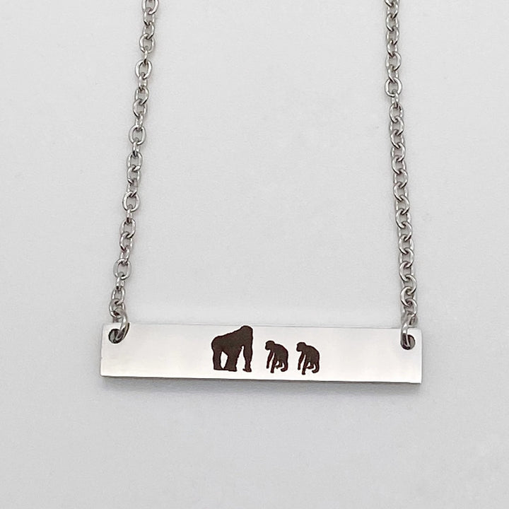 Mother's Gorilla Jewelry Bar Necklace