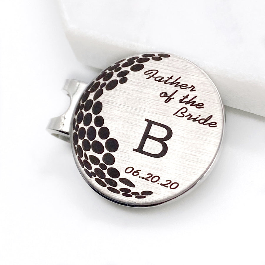 Groom's Wedding Party Initial Golf Ball Markers