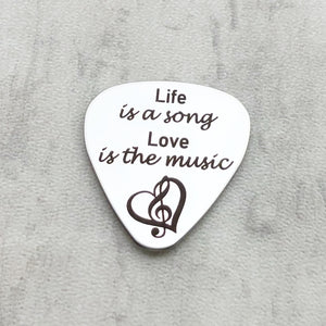 inspirational guitar pick for music lovers