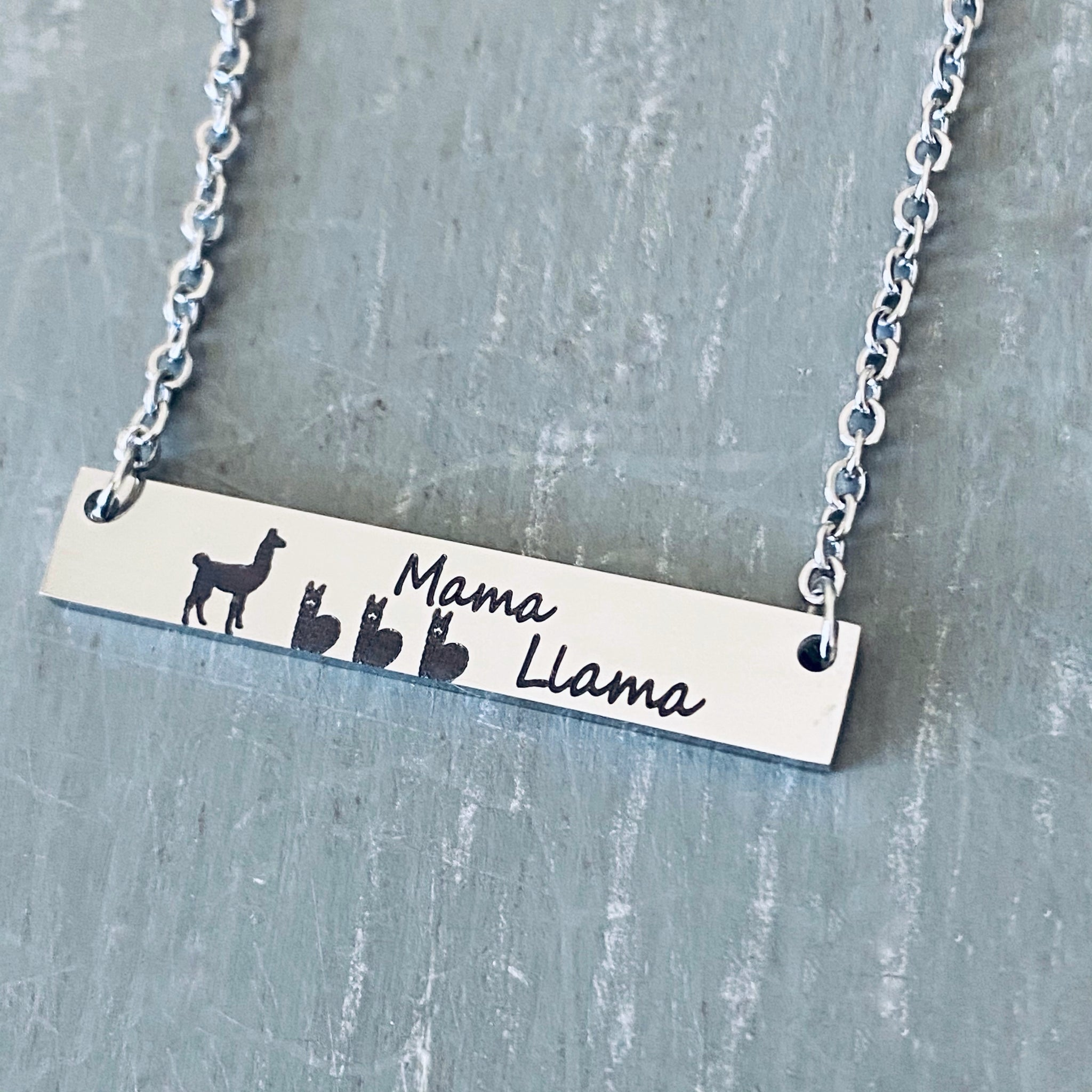 New Mom Gift Family Name Mama Llama For Mom to Be Twins Mom Alpaca Jewelry Mother Gift Family Necklace Personalized Jewelry