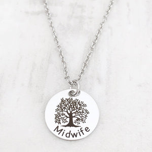 Midwife Tree of Life Silver Necklace