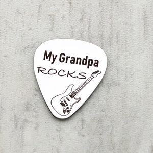 my grandpa rocks guitar pick