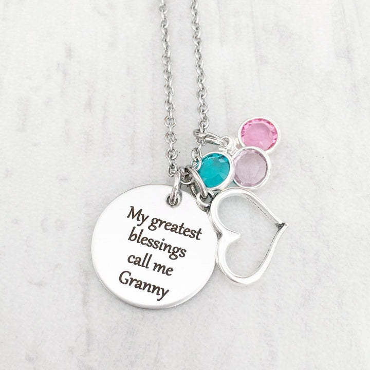 The best moms get promoted to grandma charm necklace with heart pendant christmas gift for grandma