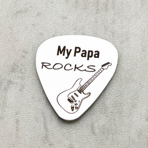 my papa rocks guitar pick