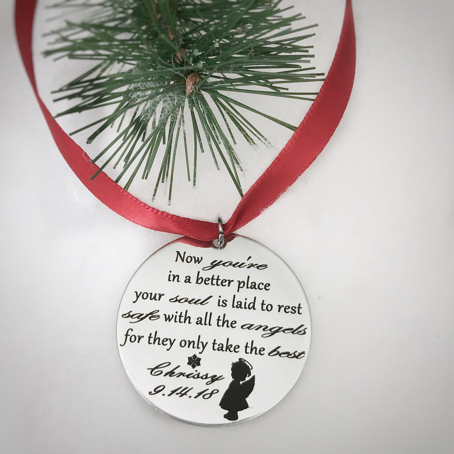 daughter in heaven christmas tree keepsake ornament for young girl