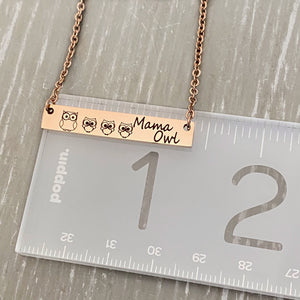 bar necklace on ruler showing 1.2""