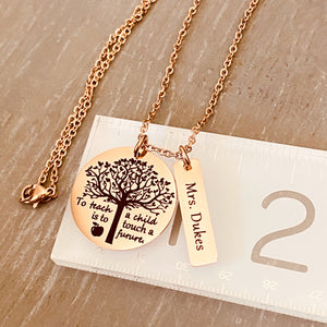 necklace on ruler to show measurements