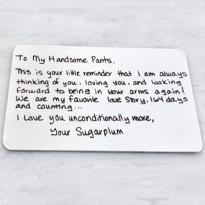 unique stocking stuffer for guys custom personalized love note to spouse gift to him