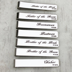 Brother of the Groom Tie Bar Clip
