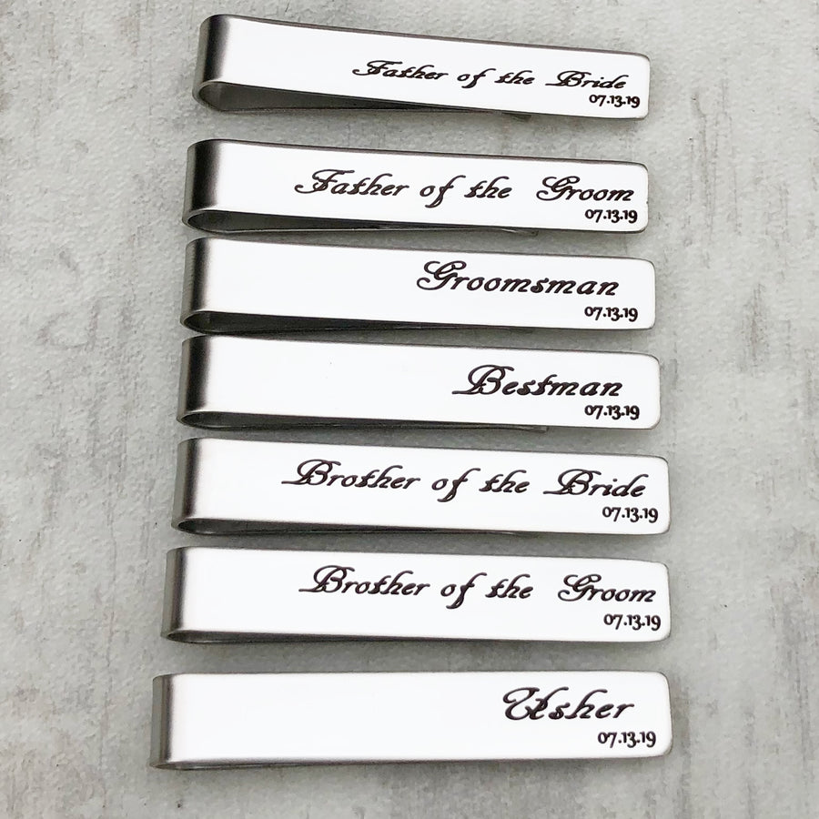 Father of the Groom Tie Bar Clip