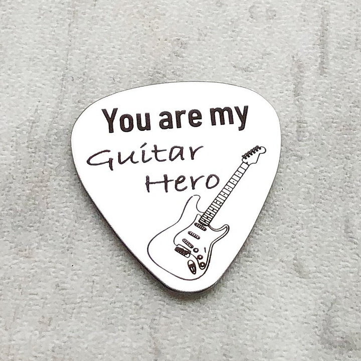 you are my guitar her silver stainless steel pick for players