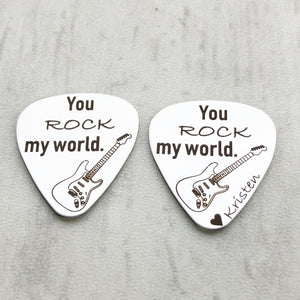 you rock my world personalized with heart and name