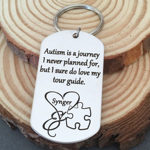 autsim is a journey i never planned for but i love my tour guide puzzle puece gift for parents