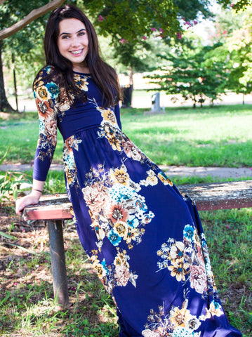 Here Comes the Bloom Navy Maxi