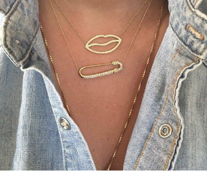 G.Rock LA Safety Pin Necklace