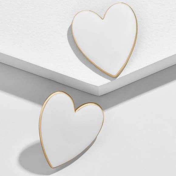 White Enamel Hearts
