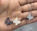 CZ Butterfly Necklace