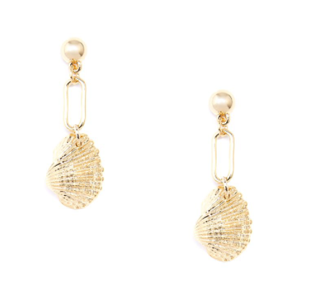 Seashell Drop Earring