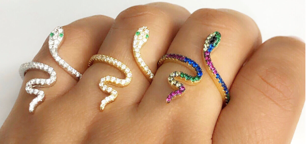 Swivel Snake Rings