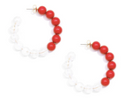 Two-Tone Beaded Hoops