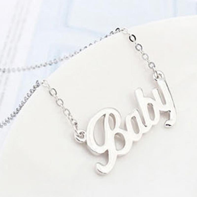 "Rose Gold Plated ""Baby"" Necklace - Austen & Parker"