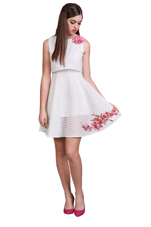 Magnolia Blossom Popover Dress
