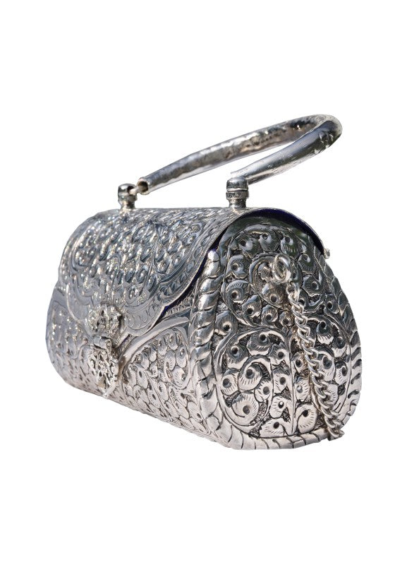 Silver Plated Clutch - ROUND