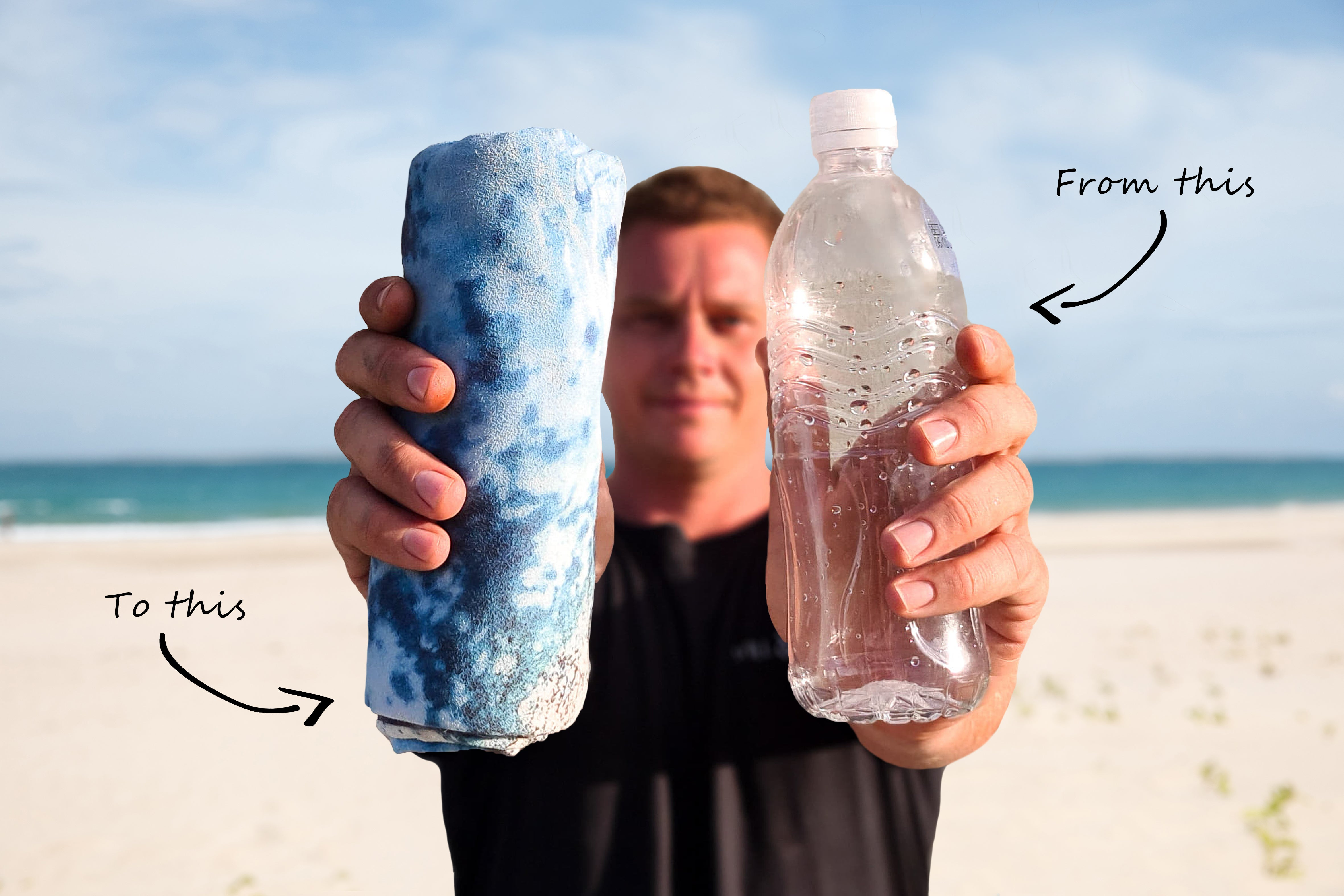 Eco Friendly Will and Wind Travel Beach Towels made from recycled materials