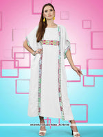AC78413B - Off White Color Rayon Readymade Kurti