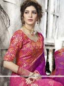 AC53117 - Pink and Magenta Color Georgette Saree