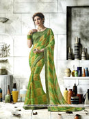 AC53120 - Yellow and Green Color Georgette Saree
