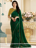 AC53239 - Dark Green Color Georgette Saree