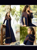 AC53252 - Navy Blue Color Georgette Anarkali Suit