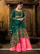 AC53351 - Dark Green Color Art Silk Anarkali Suit