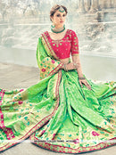 AC53480 - Green Color Pure Silk and Jacquard Saree
