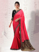 AC53493 - Pink Color  Soft Silk Saree