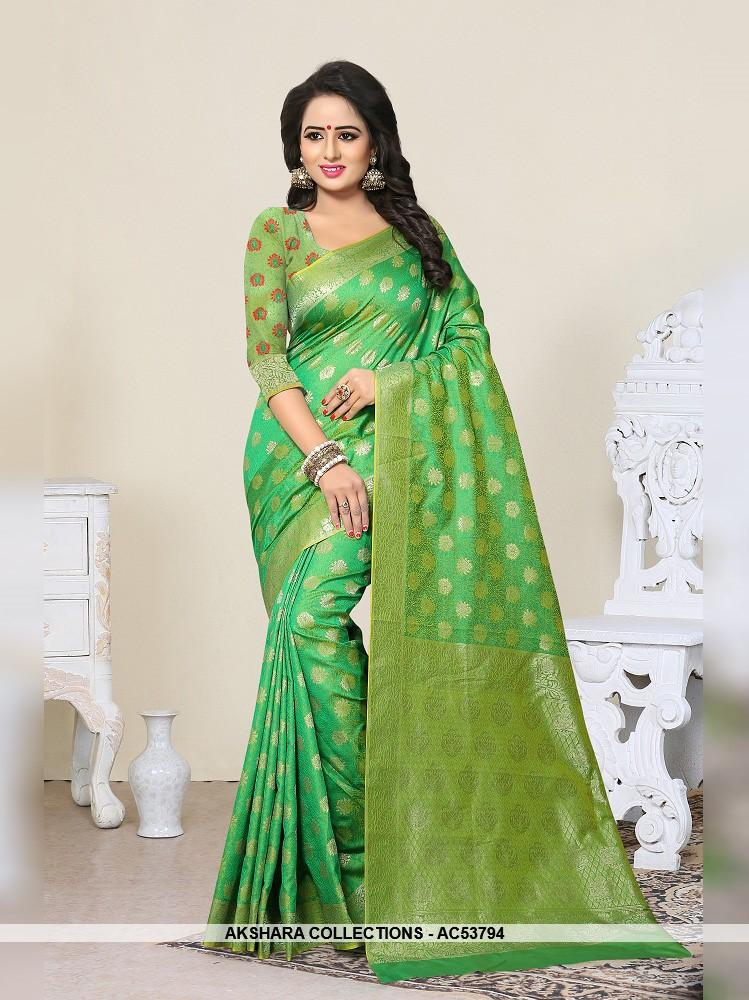 AC53794 - Green Color Banarasi Art Silk Saree