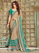 AC54455A - Beige Color Georgette Saree