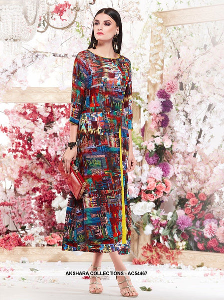 AC54467 - Multi Colour Color Cotton Kurti