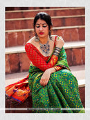 AC54488 - Green Color Jacquard Silk Saree