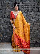 AC54489 - Yellow Color Jacquard Silk Saree