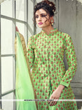 AC54637 - Green Color Satin Silk Indo- Western Suit