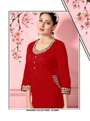 AC54991 - Red Color Cotton Kurti