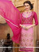 AC55125 - Pink Color Cotton Salwar Kameez