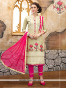 AC55128 - Cream Color Cotton Salwar Kameez