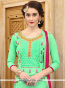 AC55131 - Green Color Cotton Salwar Kameez