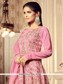 AC55284 - Pink Color Net Anarkali Suit