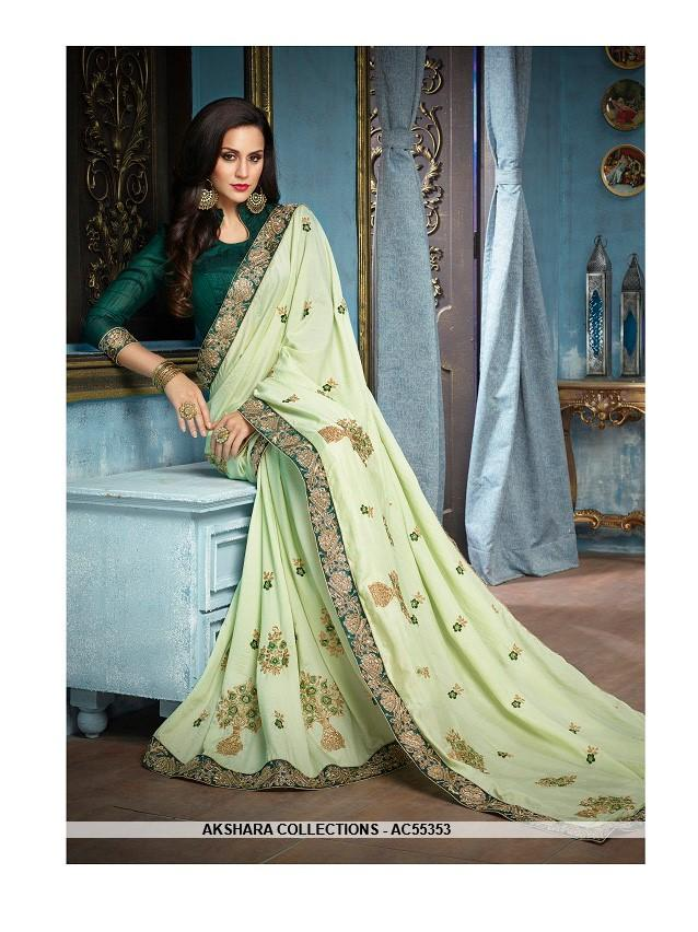12e20ecdb1 24 + Georgette Fabric Pista Green Color Dress Material From Nice ...