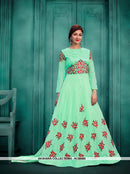 AC55455 - Sea Green Color Georgette Anarkali Suit